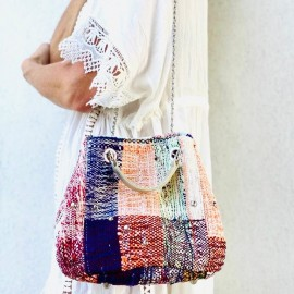 BOHO MARLOW KILIM MULTICOLORE, CHAINE ARGENTEE