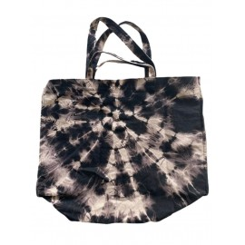 SHOPPERBAG XXL BLACK BLEACHED, ROCK'N LOVE PINK