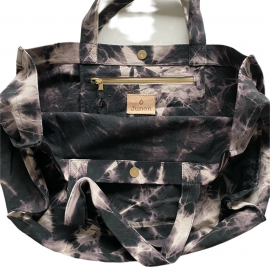 SHOPPERBAG L TIE&DYE BLACK, ROCK'N LOVE GOLD