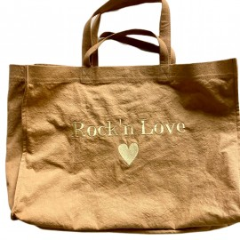 SHOPPERBAG XXL UNI MOKA, ROCK'N LOVE GOLD