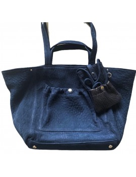MISTER J CUIR BUBBLE PONCE NAVY