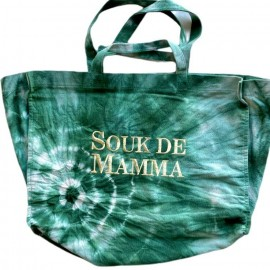 SHOPPERBAG XXL TIE&DYE MENTHE/DOREE