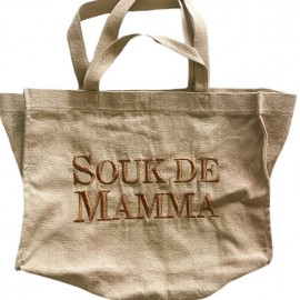 SHOPPERBAG MEDIUM UNI SABLE, SOUK DE MAMMA CUIVRE