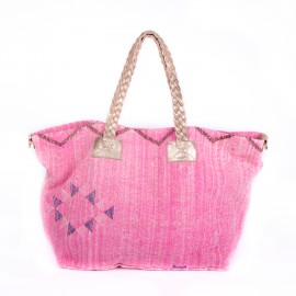 sac cabas Thiyya kilim pink