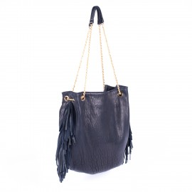 sac Dune XL cuir bubble navy