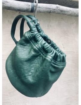 Bourse GIGI en cuir bubble verte